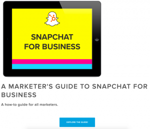 snapchat for business hubspot